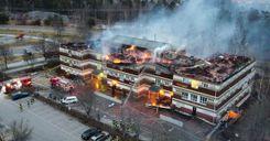 اندلاع حريق هائل في مبنى في سودرتاليا.. والفاعل في قبضة الشرطة image