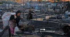 """إحراق مخيم للاجئين السوريين في لبنان """"إثر مشاجرة"""" image"""