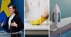 4.5 مليون كرون لدراسة أدوار النساء والرجال بالأعمال المنزلية في السويد image