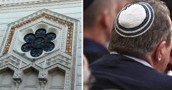 مجهولون يعلّقون دمى خارج كنيس يهودي في السويد image