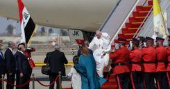 البابا فرنسيس يصل إلى العراق في زيارة تاريخية رغم تفشي كورونا والمخاطر الأمنية image