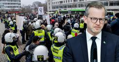 وزير الداخلية السويدي : المظاهرات تدل على عدم احترام القيود image