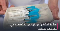عشرة أسئلة وأجوبتها حول التطعيم في مقاطعة سكونه image