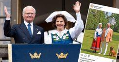 ملك السويد يوجه تحية منتصف الصيف من مقر إقامته image
