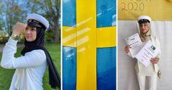 طالبة عربية تتفوق في السويد image