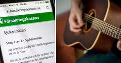 تغريم شخص بـ 625 ألف كرونة سويدية لعزفه الموسيقى أثناء إجازة مرضية image